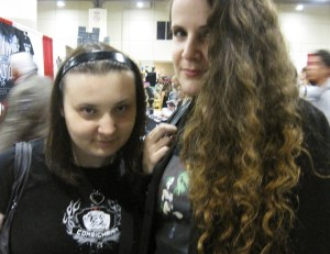 Horror fans Roula and Jennifer