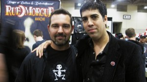 My Pet Skeleton's Vincent Marcone and Rue Morgue founder Rodrigo Gudino