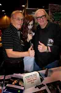 John Russo and Russ Streiner flank zombie friend